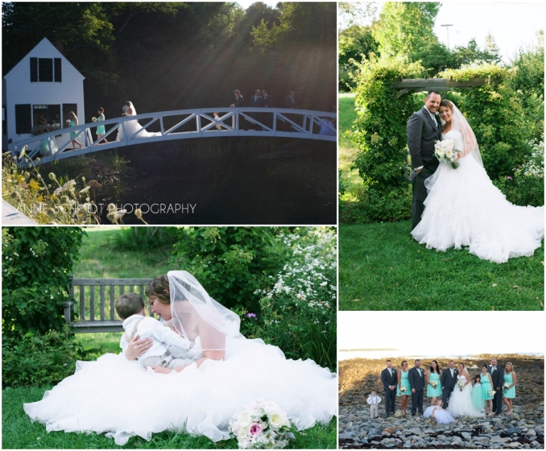 Garden themed wedding in Southwest Harbor Maine