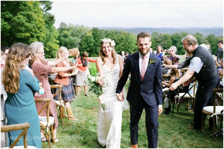 ceremony in a field in Berkshires area of Massachusetts
