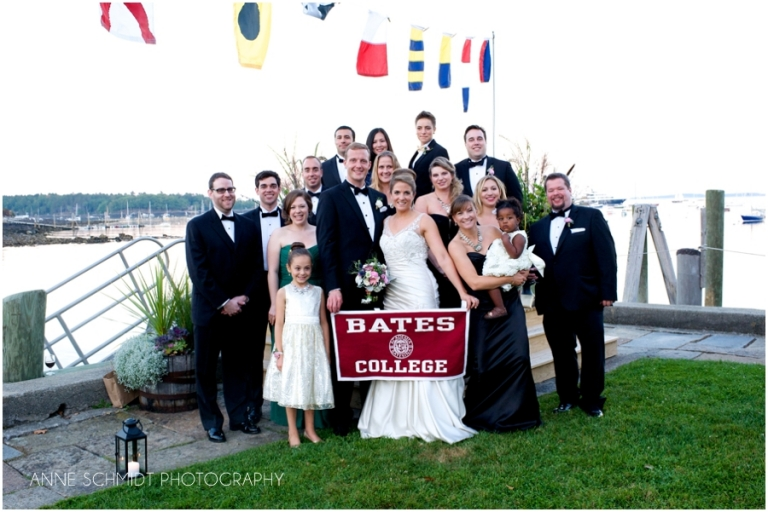 Bates college alums at Camden Maine wedding