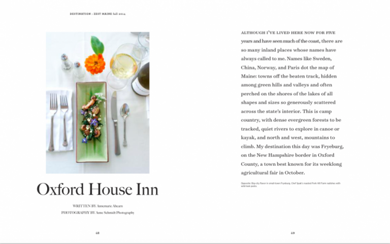Oxford House Inn food photography by Anne Schmidt Photography