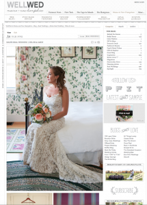Real wedding feature on WellWed blog of Asticou Inn wedding