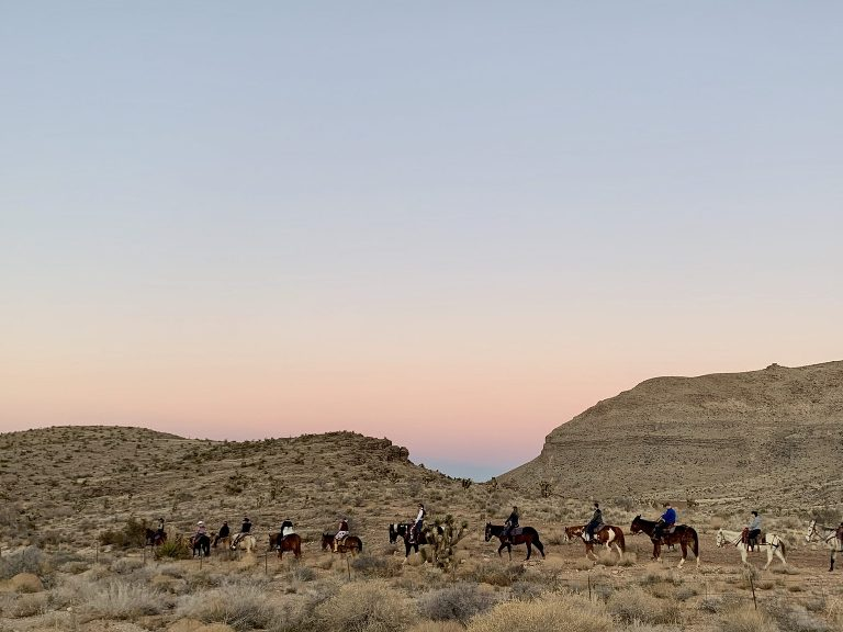 horseback trail ride at Red Rock Canyon Las Vegas